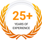 25+ Years of Experience Badge